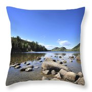 Jordan Pond Throw Pillow by Terry DeLuco