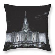 Jordan River Utah Lds Temple Throw Pillow