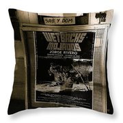 Jorge Rivero Movie Theater Poster Us/mexico Border Town Naco Sonora Mexico 1980  Throw Pillow