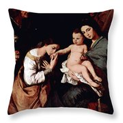 Jos De Ribera Throw Pillow