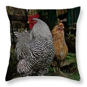 Jos Rooster Throw Pillow