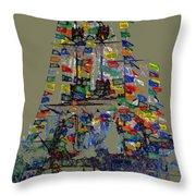 Jose Gaspar Ship Vertical Work Throw Pillow