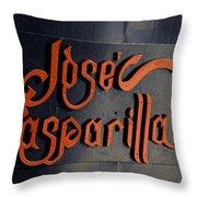 Jose Gasparilla Name Plate Color Throw Pillow