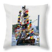 Jose Gasparilla Ship Work A Throw Pillow