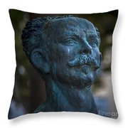 Jose Marti Statue Cadiz Spain Throw Pillow