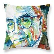 Jose Saramago Portrait Throw Pillow