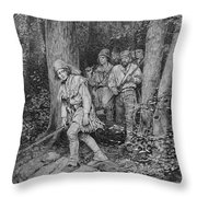 Joseph Brown Leading His Company To Nicojack, The Stronghold Of The Chickamaugas, Engraved Throw Pillow