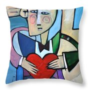 Joseph Came A Courtin Throw Pillow
