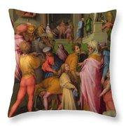 Joseph Sold To Potiphar Throw Pillow