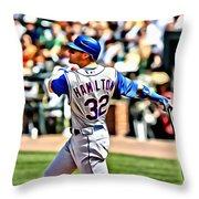 Josh Hamilton Painting Throw Pillow