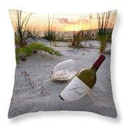 Josh Wine Throw Pillow