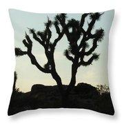 Joshua Tree At Sundown Throw Pillow