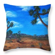 Joshua Tree Desert Throw Pillow