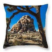 Joshua Tree Jumbo Rocks Throw Pillow
