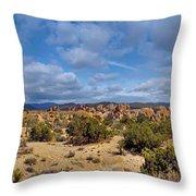 Joshua Tree National Park Indian Cove Rocks Throw Pillow