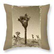 Joshua Tree National Park - Old Vintage Sepia Throw Pillow