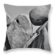 Joshua Tree Rocks Throw Pillow