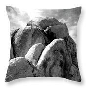 Joshua Tree Rocks Joshua Tree Throw Pillow