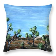 Joshua Trees Throw Pillow by Anastasiya Malakhova