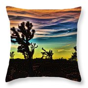 Joshua Trees In Cima Valley Throw Pillow
