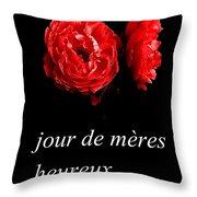 Jour De Meres Heureux Throw Pillow