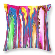Abstract Journalist Beheaded People Leaning Against The Wall Throw Pillow