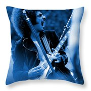 Journey #4 Enhanced In Blue Throw Pillow