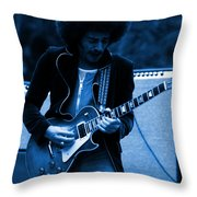Journey #9 In Blue Throw Pillow