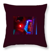 Journey Of The Deep Space Robot Throw Pillow