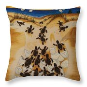 Journey To The Millennium Hand Embroidery Throw Pillow