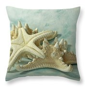 Journey To The Sea Starfish Throw Pillow