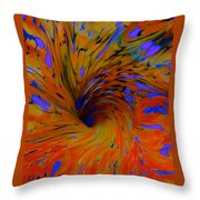 Journeys Path Of Color Throw Pillow