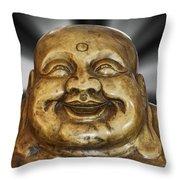 Jovial Buddha Throw Pillow