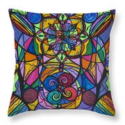 Jovial Optimism Throw Pillow by Teal Eye  Print Store