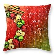 Joy And Peace Throw Pillow