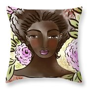Joy In My Flower Garden Throw Pillow