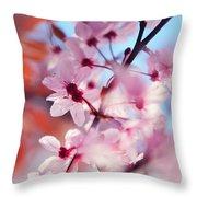 Joy Of Spring. Pink Spring In Amsterdam Throw Pillow