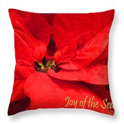 Joy Of The Season Throw Pillow
