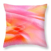 Joy - Rose Throw Pillow by Ben and Raisa Gertsberg