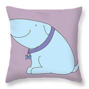 Joy The Dog Throw Pillow