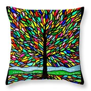 Joyce Kilmer's Tree Throw Pillow