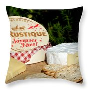 Joyeuses Fetes Throw Pillow