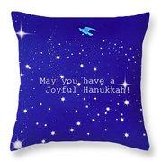 Joyful Hanukkah Card  Throw Pillow