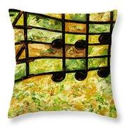 Joyful - Lemon Lime Throw Pillow
