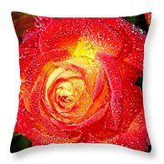 Joyful Rose Throw Pillow