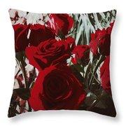 Joyful Roses   Throw Pillow