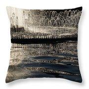 Joyful Sunny Splashes Throw Pillow