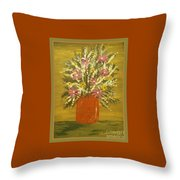 Joyous Floral Throw Pillow