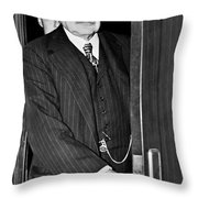 J.p. Morgan At S.e.c. Throw Pillow by Underwood Archives