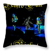 Jt #38 Enhanced In Cosmicolors With Text And Bigfoot 2 Throw Pillow